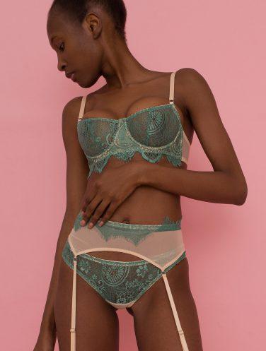 green lace bra