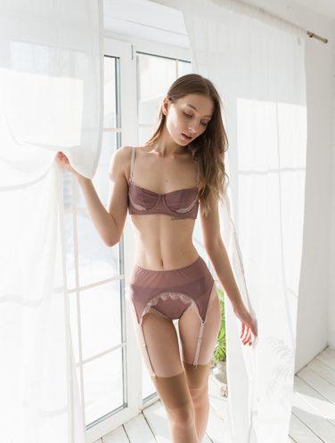 lavender lingerie set